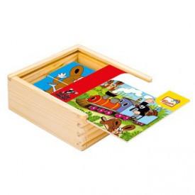 Dřevěné hračky -  První skládanka - Krtek