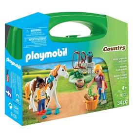 PLAYMOBIL 9100 Přenosná box Péče o koně
