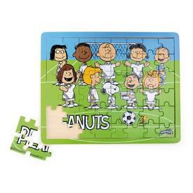 Dřevěné puzzle Peanuts fotbal