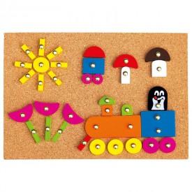 Dřevěné hračky - Hra s kladívkem - Krtek