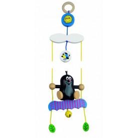 Dřevěné hračky - Závěs na kočárek - Šplhající Krtek