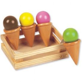 Dřevěné hračky - Kuchyně - Košík se zmrzlinou