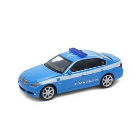 Welly - BMW 330i 1:43 policie bílooranžové
