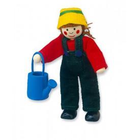Dřevěné hračky - Panenka do domečku zahradnice