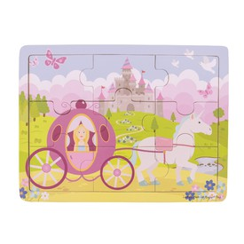 Bigjigs Toys puzzle - Princezna s kočárem