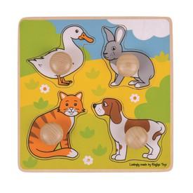 Bigjigs Toys vkládací puzzle - Domácí zvířátka
