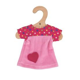 Bigjigs Toys růžové tričko se srdíčkem 25 cm