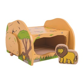 Dřevěné vláčkodráhy Bigjigs - Lví jeskyně