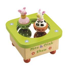 Tidlo hrací skříňka Kravička a prosátko