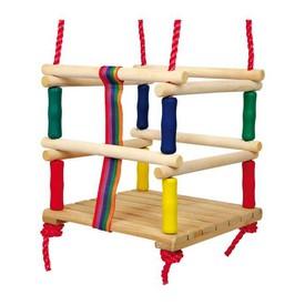Dřevěné venkovní hračky - Houpačka s ohrádkou