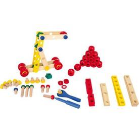 Dřevěné hračky - Konstrukční sada Šrouby