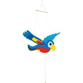 Dřevěné dekorace - Pohyblivý papoušek