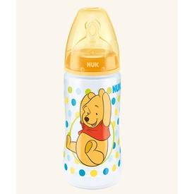 NUK First Choice Plus Medvídek Pú láhev 300 ml červená