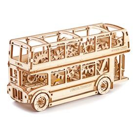 Wooden City 3D mechanické puzzle - Londýnský bus Double Decker
