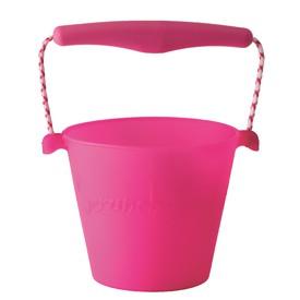 Scrunch silikonový kbelíček růžový