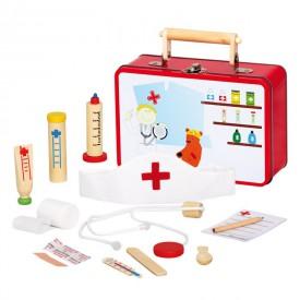 Dřevěné hračky - Zvěrolékařský kufřík
