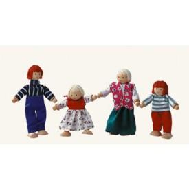Dřevěné hračky - Panenky do domečku - rodina