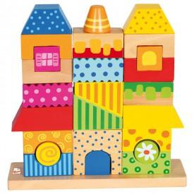 Dřevěné hračky - Skládanka domeček