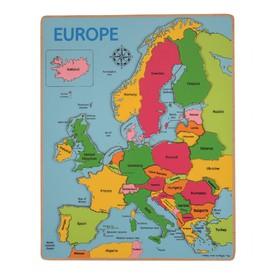 Bigjigs Toys Dřevěné puzzle mapa Evropy 25 dílků