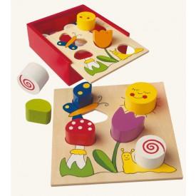 Dřevěné hračky - Moje první puzzle - Bella Florina