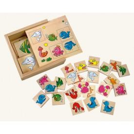Dřevěné hračky - dřevěné hry - Pexeso - Ve vodě