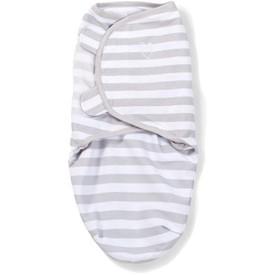 SUMMER INFANT Zavinovačka SwaddleMe L –  šedý - bílý proužek