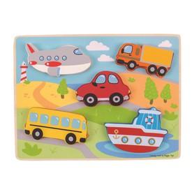 Bigjigs Toys vkládací puzzle - Dopravní prostředky