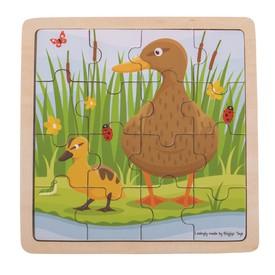 Bigjigs Toys puzzle - Kačenka s káčátkem