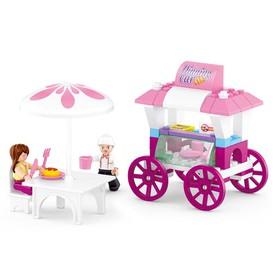 Sluban Girls Dream Town M38-B0522 Pojizdné občerstvení se stolečkem