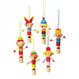 Dřevěné hračky -Dřevěné hudební nástroje - Dřevěná píšťalka