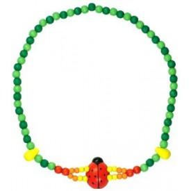Dřevěné hračky -  Dětský náhrdelník 2x provlečená beruška