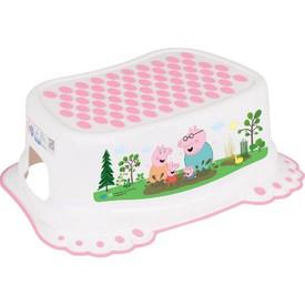 TEGA BABY Dětské protiskluzové stupátko do koupelny Prasátko Peppa white-pink