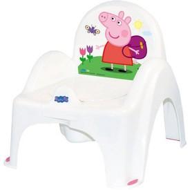TEGA BABY Hrající dětský nočník s poklopem Prasátko Peppa white-pink