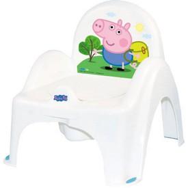 TEGA BABY Hrající dětský nočník s poklopem Prasátko Peppa white-blue
