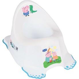 TEGA BABY Hrající dětský nočník protiskluzový Prasátko Peppa white-blue