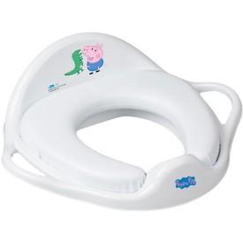 TEGA BABY Dětské sedátko na WC měkké Prasátko Peppa white-blue
