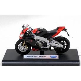 Welly - Motocykl Aprilia RSV4 Factory model 1:18 červený
