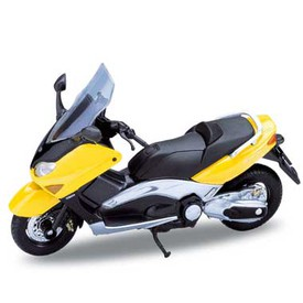 Welly - Motocykl Yamaha XP500 TMAX (2001) model 1:18 žlutá