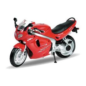 Welly - Motocykl Triumph Sprint ST (2002) model 1:18 červený