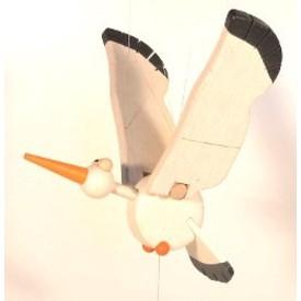 CEEDA CAVITY Dřevěná hračka na zavěšení Čáp