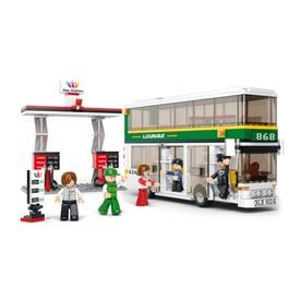 Sluban Town M38-B0331 Dvoupatrový autobus s čerpací stanicí