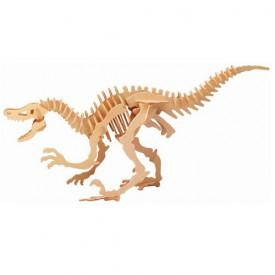 Dřevěné 3D puzzle dinosauři - velký Velociraptor BJ004