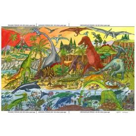 Dřevěné hračky - Puzzle dinosauři 96 dílků