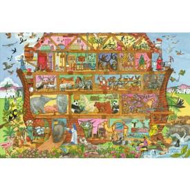 Dřevěné hračky - Puzzle Noemova archa 96 dílků