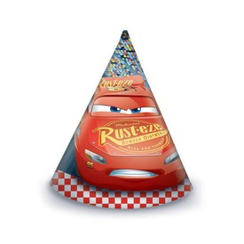 PROCOS Papírový klobouk Auta Cars 6 ks