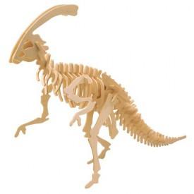 Dřevěné 3D puzzle dinosauři - velký Parasaurolophus BJ015