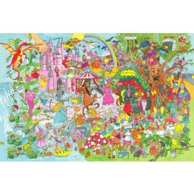 Dřevěné hračky - Puzzle fantasyland 96 dílků