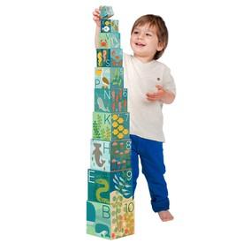 Petitcollage Věž z 1-2-3 kostek s mořskými živočichy