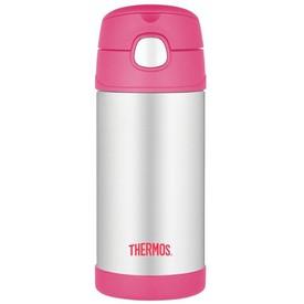 THERMOS Dětská termoska s brčkem růžová