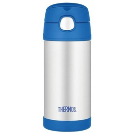 THERMOS Dětská termoska s brčkem modrá